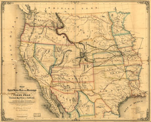 Trails West Map 1859 Link