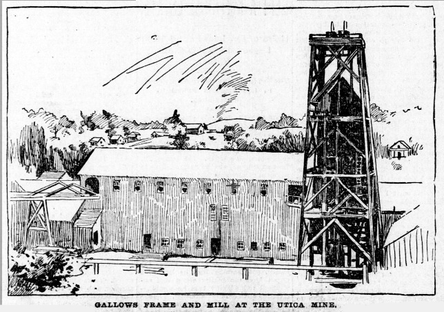 Utica Mine 1895 - Gallows Fram and Mill